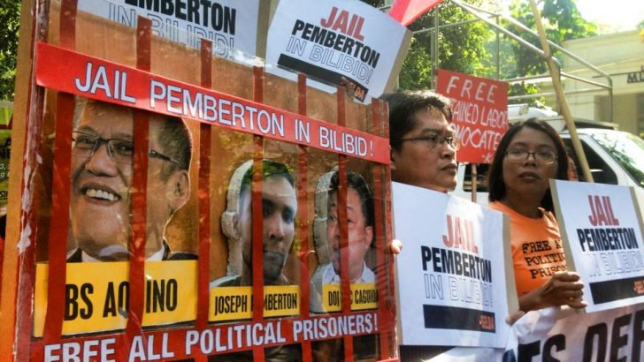 'Jail Pemberton, free political prisoners,' rights groups say