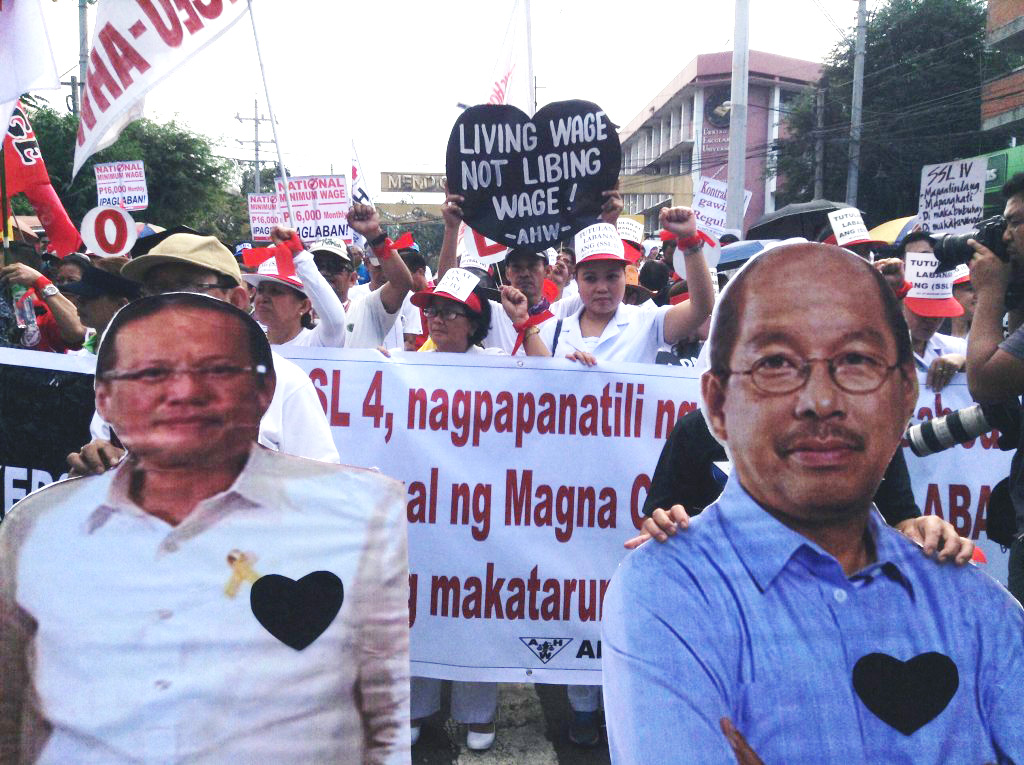 Government employees stage 'Black Hearts Day' protest against Salary Standardization Law 4. (Photo by J. Ellao / Bulatlat.com)