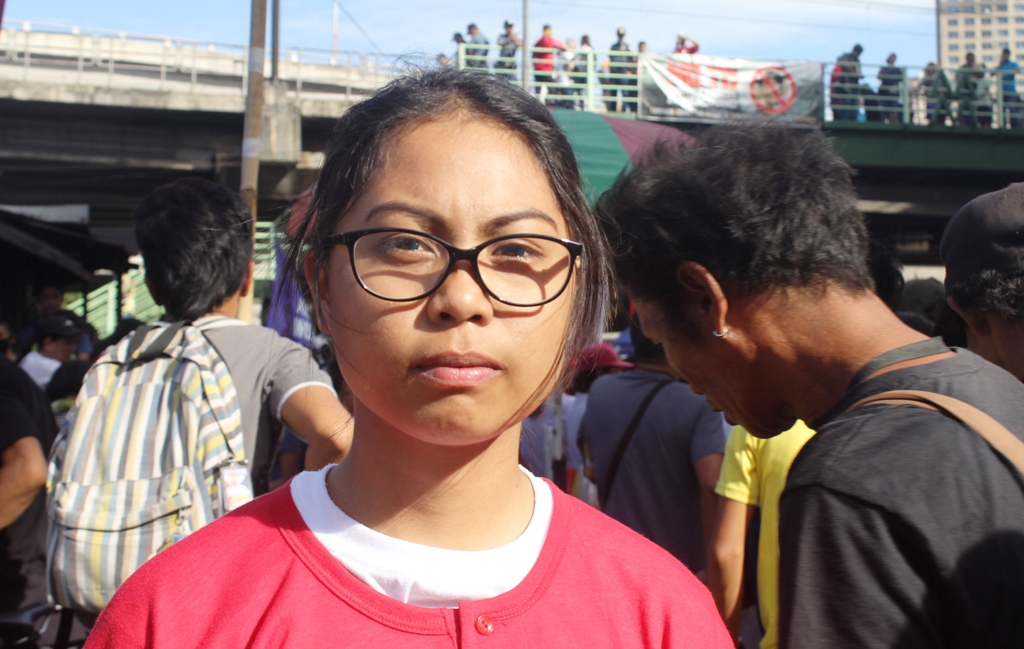 Annalou Monzales's, 18 from Batangas says her parents experienced difficult life during martial law. (Photo by Anne Marxze D. Umil/ Bulatlat)