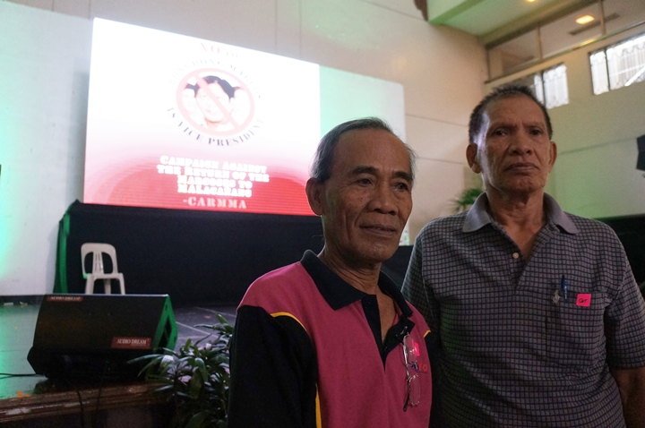 Kali (right) and fellow Moro victim of martial law Kedza Ukas. (Photo by J. Ellao / Bulatlat.com)