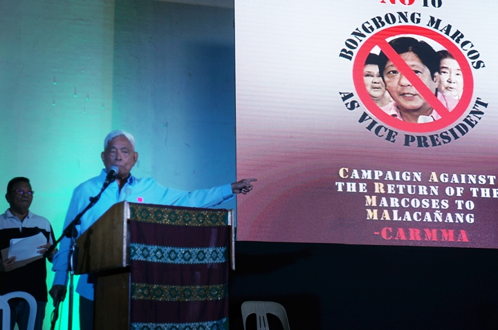 Former Sen. Aquilino Pimentel joins the clamor to keep Sen. Marcos from winning vice presidency (Photo by J. Ellao / Bulatlat.com)
