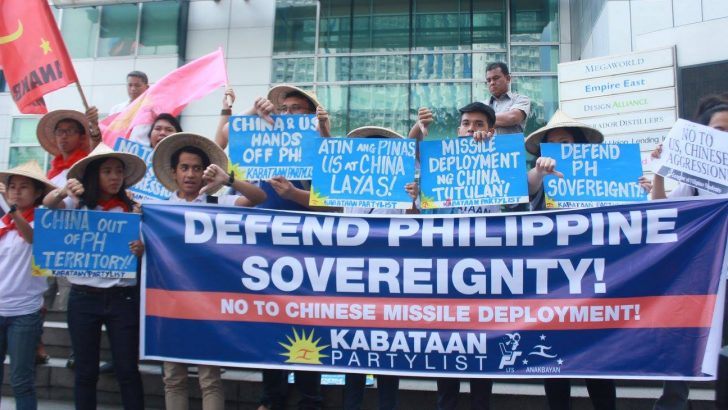 Youth groups protest China's missile deployment in Paracels