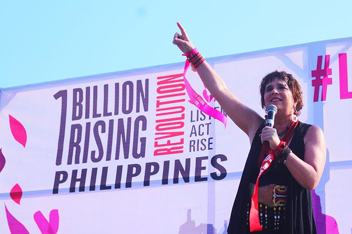 #OneBillionRising in Manila | Eve Ensler demands justice for Filipino women