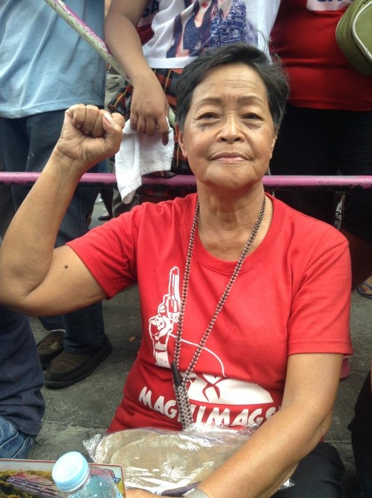 Ka Nitz Gonzaga says she was detained for months during martial law. (Photo by J. Ellao / Bulatlat.com)
