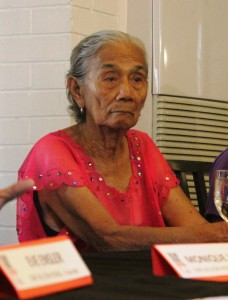 Lola Narcisa Claveria, 85, a victim of sexual slavery during the World War II said she will not be tired of demanding justice for  all comfort women. (Photo by A. Umil/ Bulatlat.com)