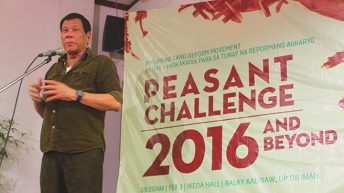 Candidates vow to support land reform, other peasant agenda