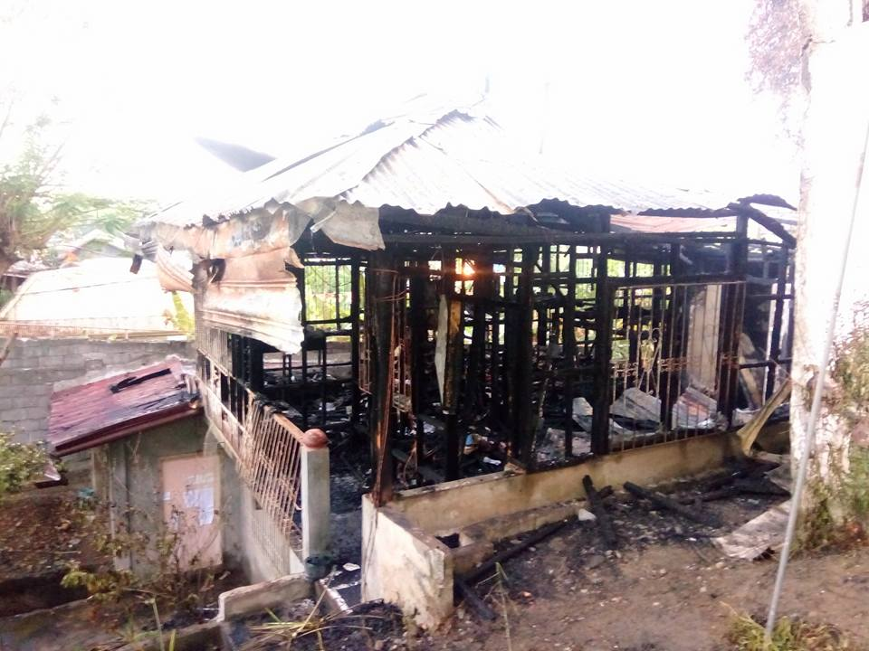 Part of the UCCP Haran that was torched. (Photo by Kilab Multimedia)
