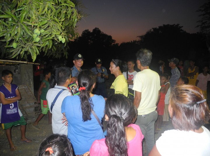 Zambales Congresswoman Cheryl Delloso-Montalla arrived to talk with residents on March 10. (Contributed photo)