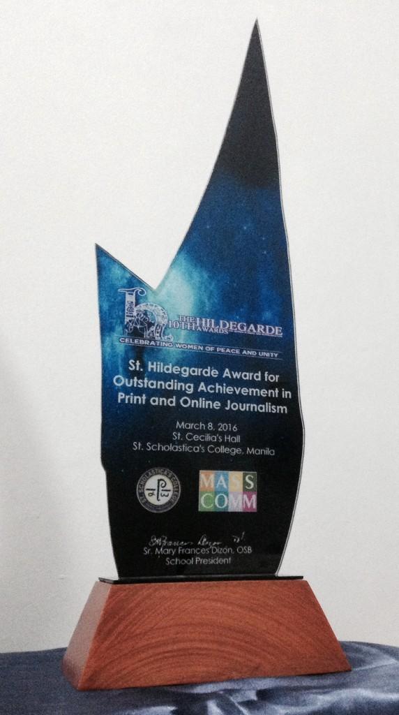 Bulatlat wins in 10th Hildegarde awards