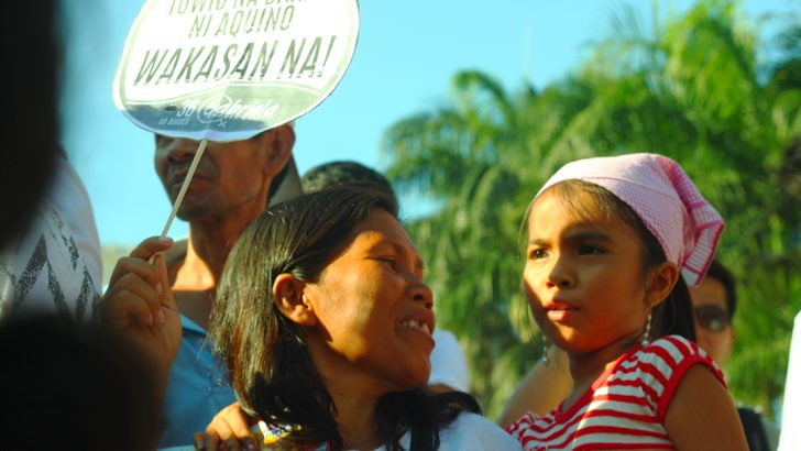 Women hold Aquino accountable for crimes against the Filipino women