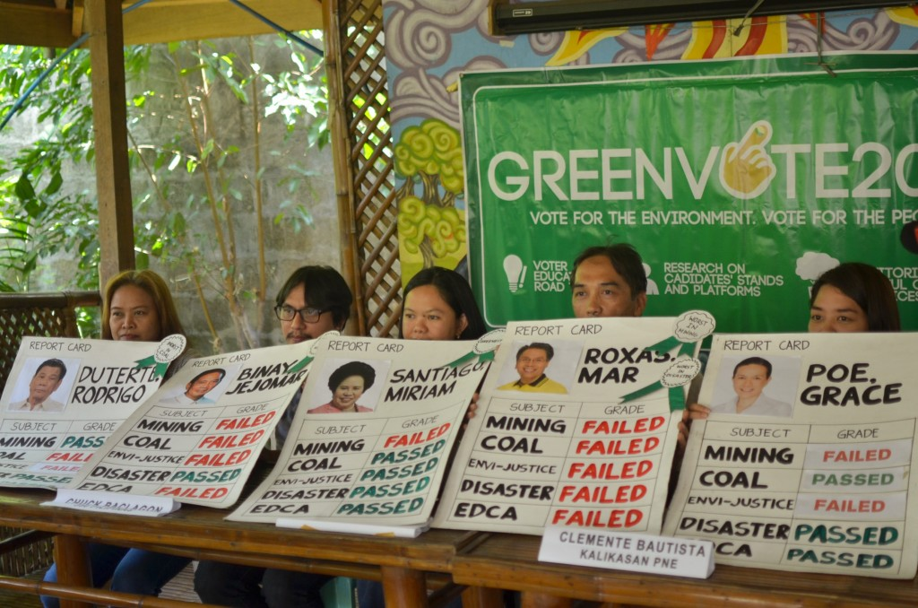 Green Vote| Roxas, Binay get 'failing grades' on environment
