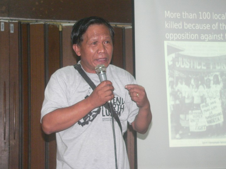 Fernando Mangili, spokesperson of Amianan Salakniban (Photo by D.Ayroso/Bulatlat)