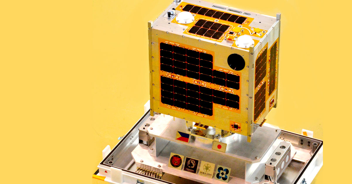 Diwata-1, the Philippines' first microsatellite. (From the Official Gazette of the Republic of the Philippines)