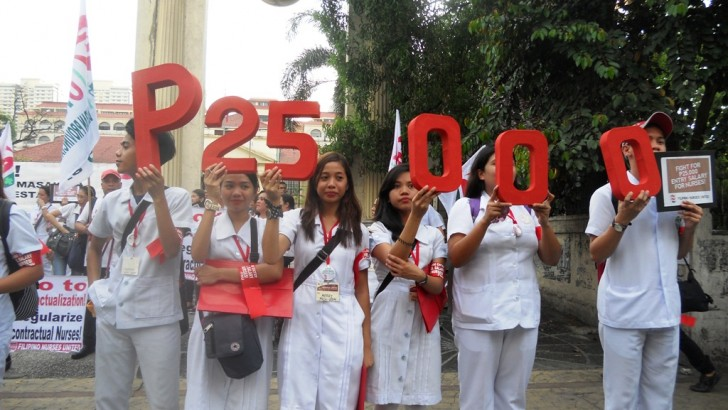Nurses fight for decent wages, tenure
