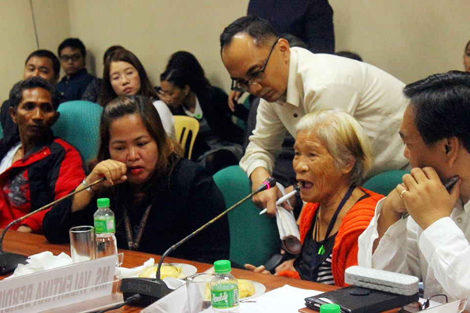 Lola Valentina shares her ordeal before the senate hearing. (Photo by Amel Sabangan / Kodao Productions)