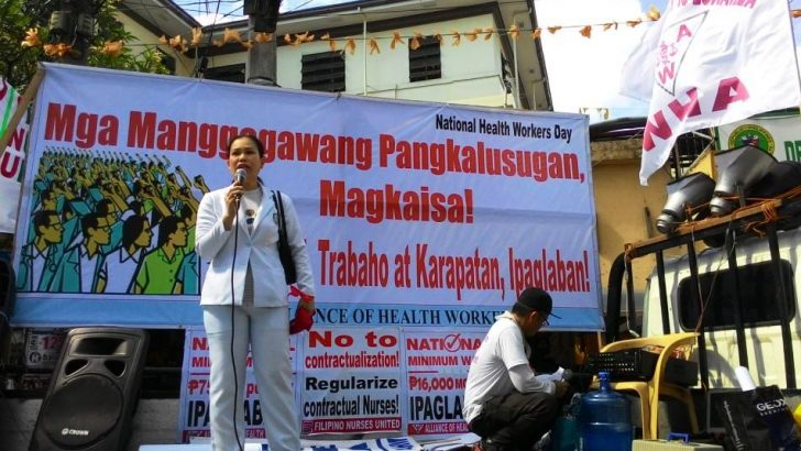 On Health Workers' Day, protesters demand wage increase, end to contractualization, privatization