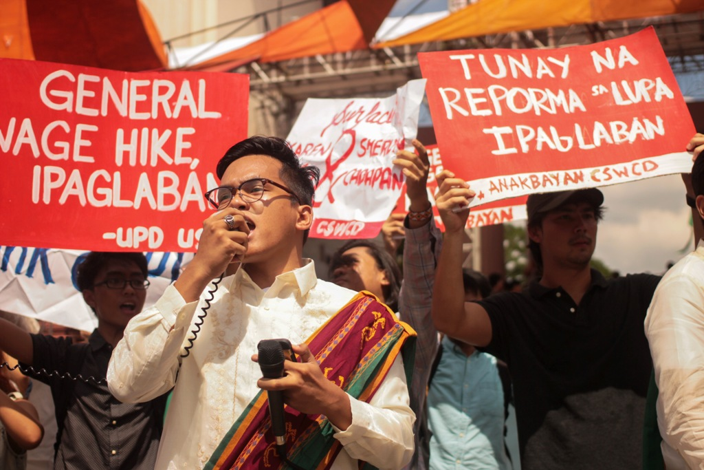 University of the Philippines-Diliman University Student Council (USC) Chairperson Bryle Leano. (Photo by Gino Estella/ Bulatlat)