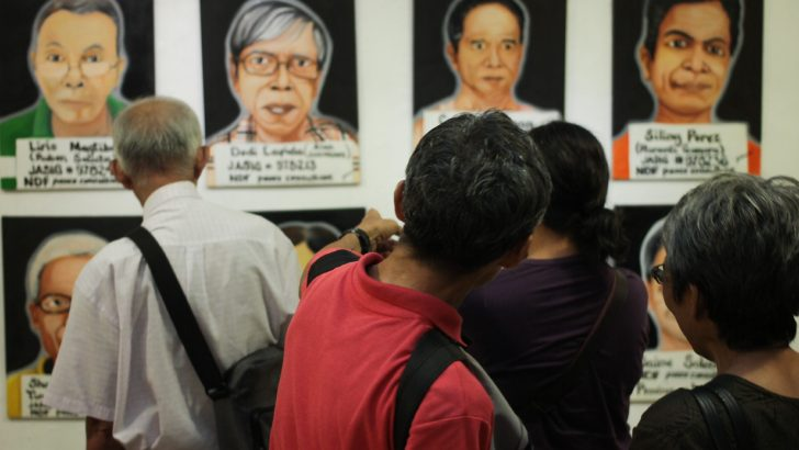 Hopes high at political detainees' art exhibit in UP Diliman