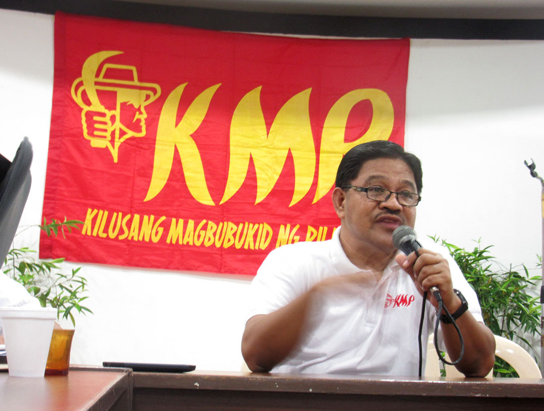 Rafael Mariano, incoming secretary of Department of Agrarian Reform, calls for further strengthening of the peasant movement in the Philippines. (Photo by Miko Mendizabal / Bulatlat)