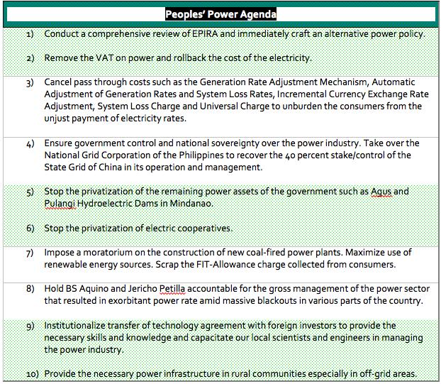 People's Power Agenda
