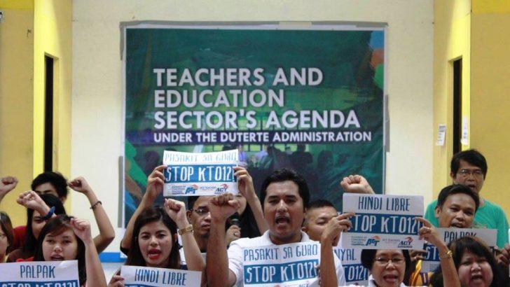 Public school teachers pose 8-point education agenda to Duterte