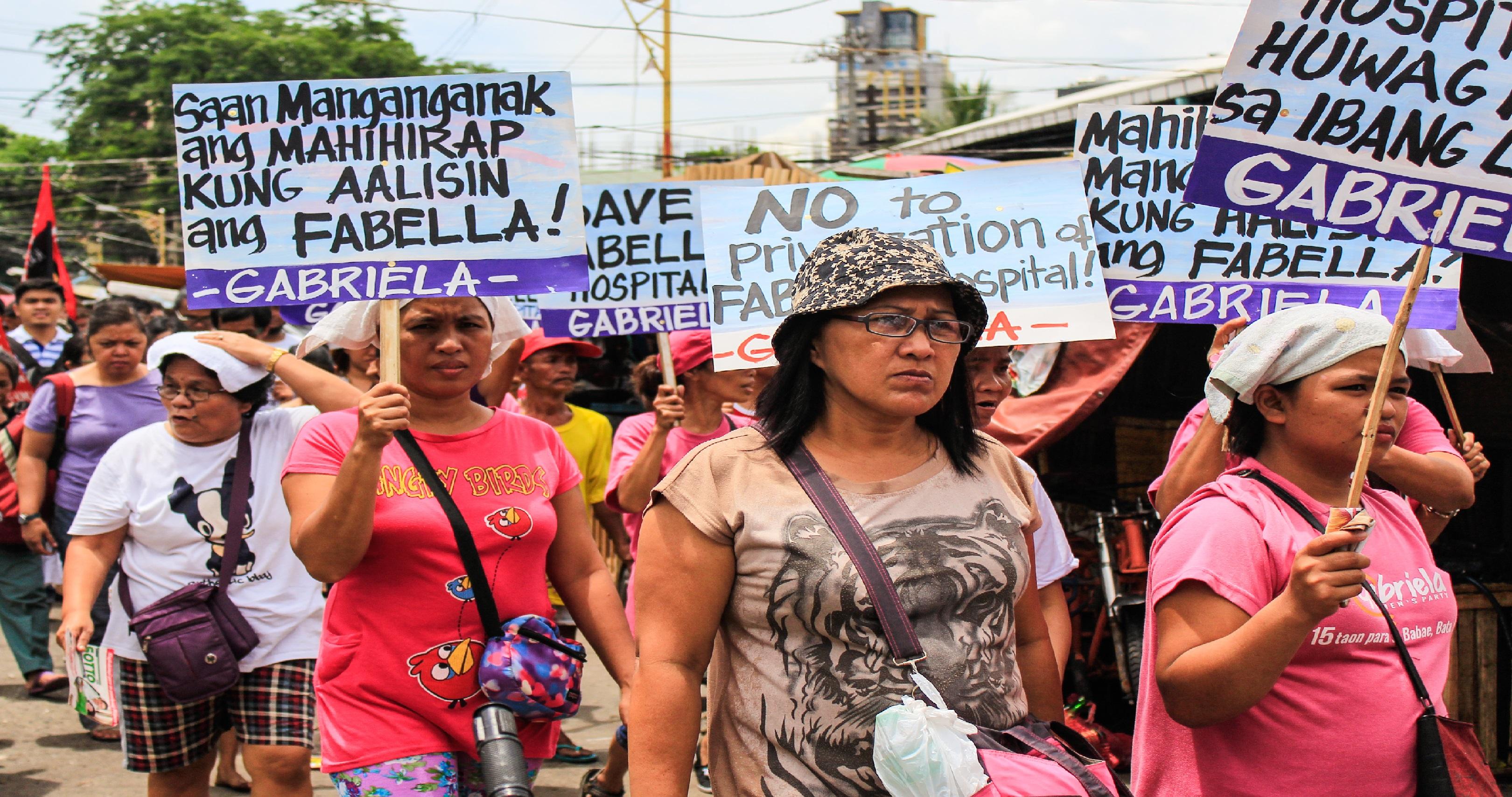 fabella women protesters