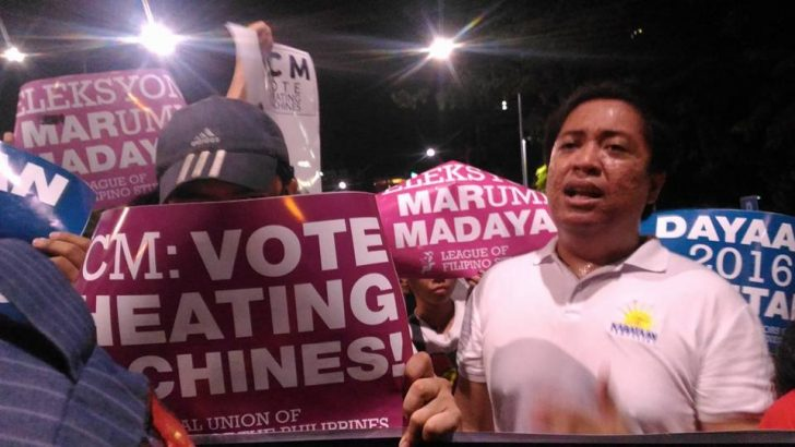 Youth groups protest against Election Day glitches