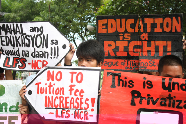 Youth groups challenge Duterte: 'Stop tuition hikes, K to 12'