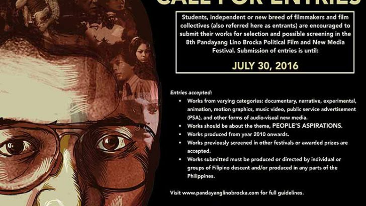 Call for Entries | 8th Pandayang Lino Brocka Political Film and New Media Festival