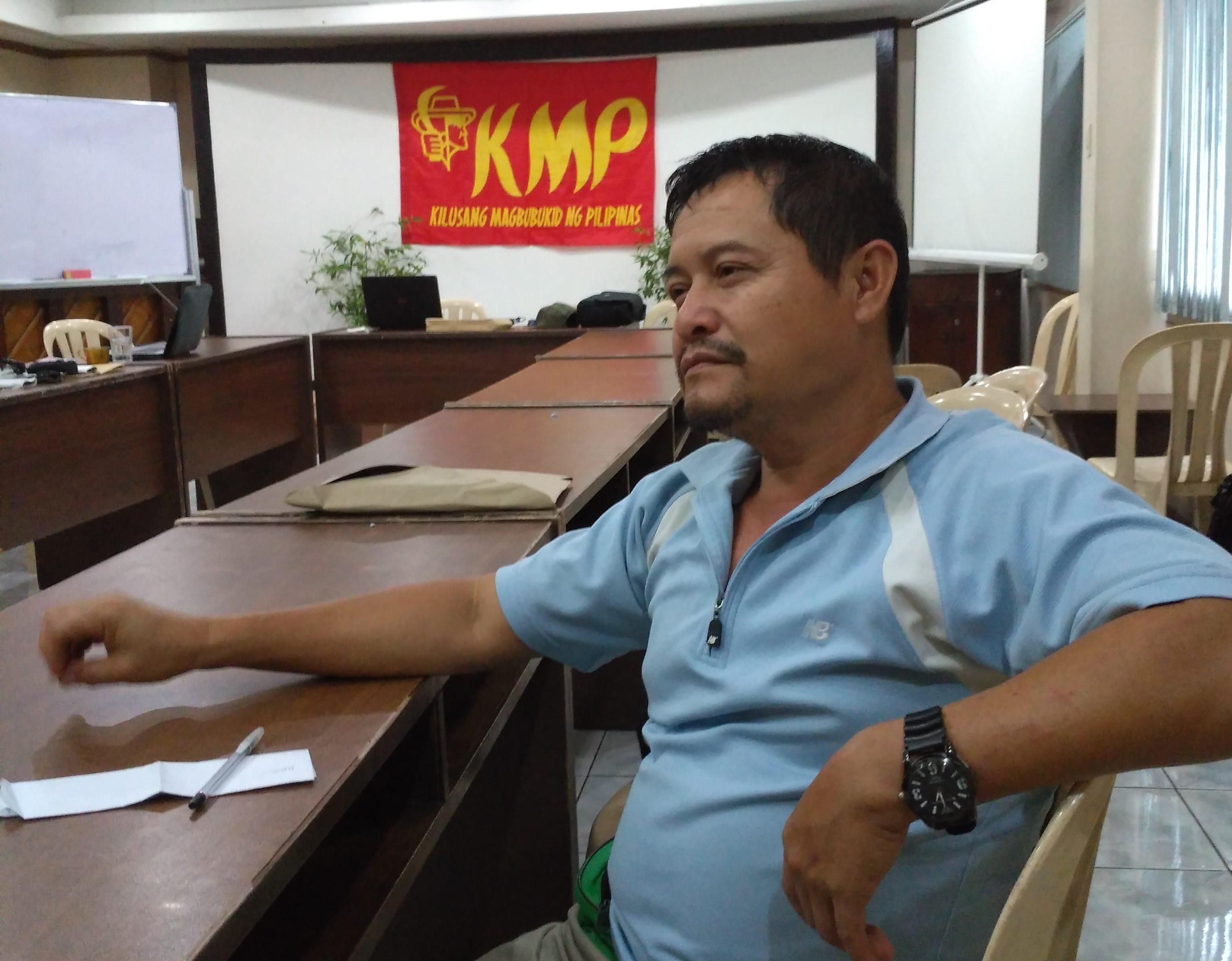 Pedro Arnado, chairperson of Kilusang Magbubukid sa Pilipinas (KMP)–Southern Mindanao Region. (Photo by Ronalyn Olea/Bulatlat)