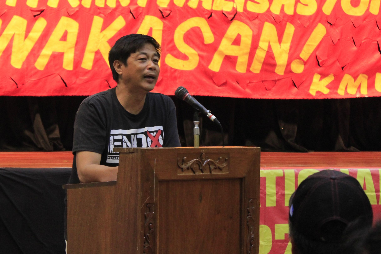 Elmer Labog, Kilusang Mayo Uno chairperson. (Photo by Karen Ann Macalalad/Bulatlat)