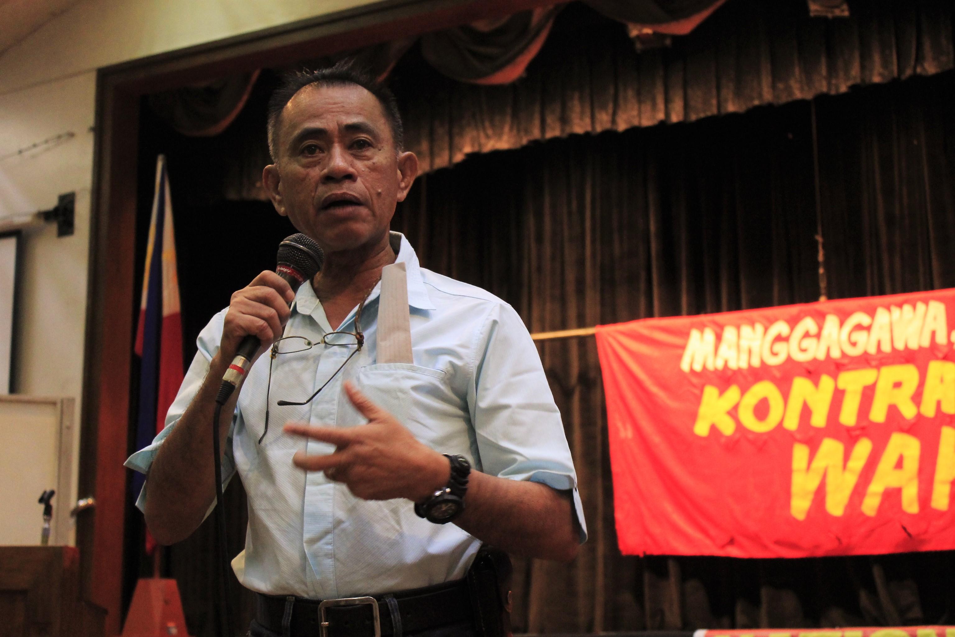 Undersecretary Joel Maglunsod (Photo by Karen Ann Macalalad/Bulatlat)