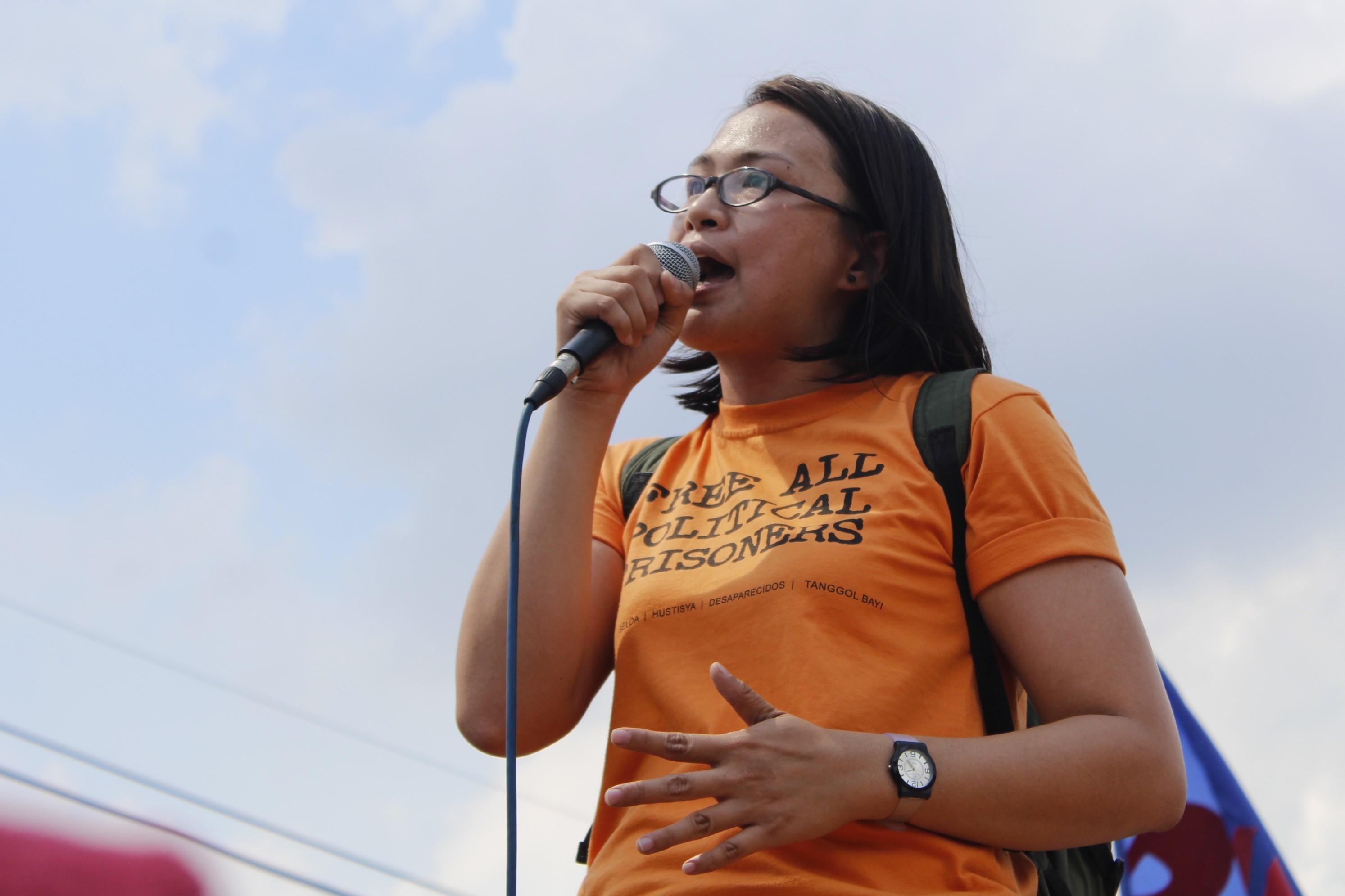 Nikki Gamara, daughter of an detained NDFP consultant Renante Gamara (Photo by Karen Ann Macalalad/Bulatlat)