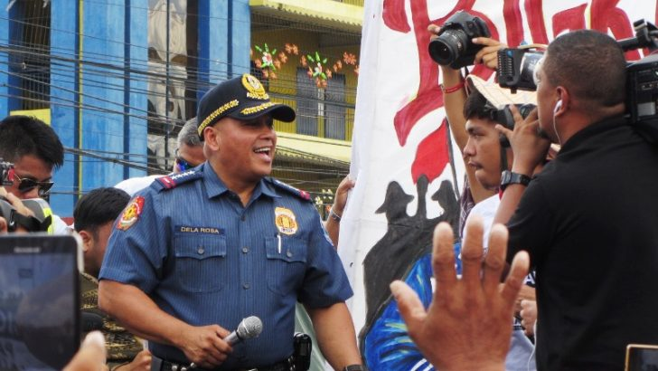 Police chief 'Bato' surprises SONA rallyists at Batasan