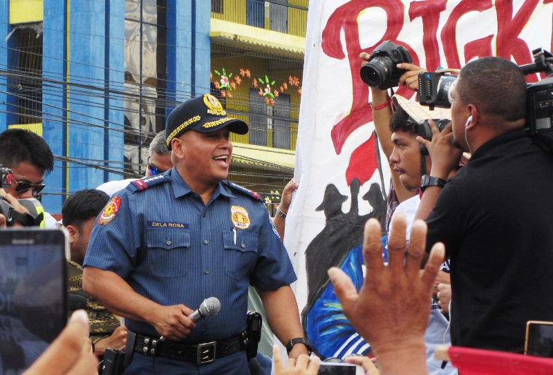 Police chief 'Bato' surprises SONA rallyists at Batasan