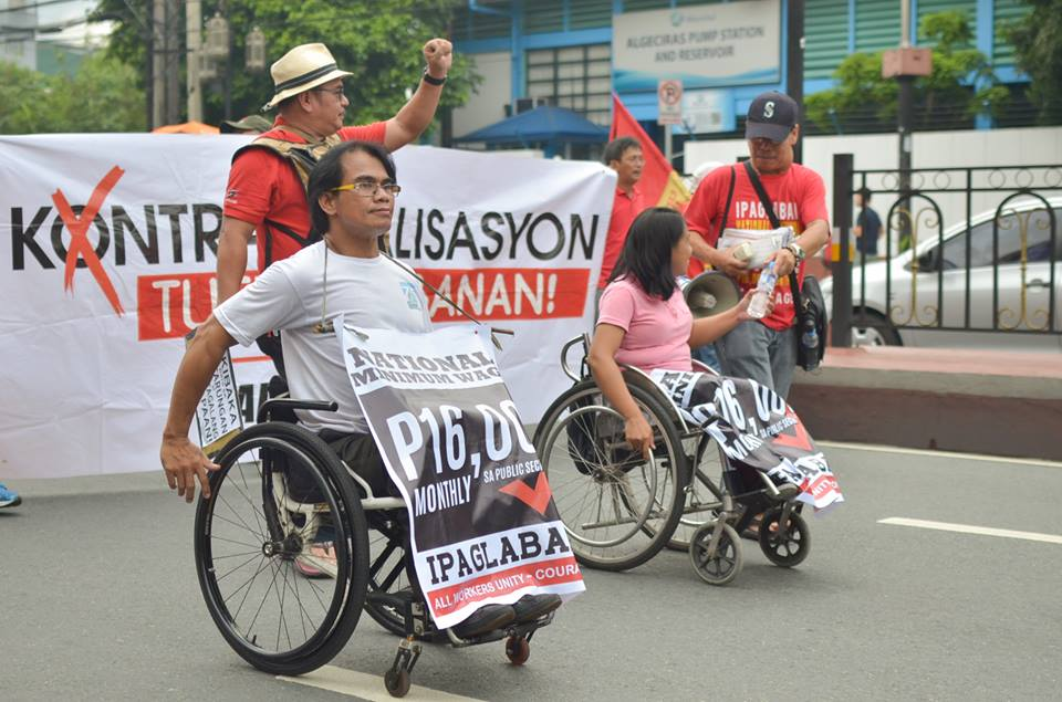 BULATLAT FILE PHOTO: PWDs join the June 30 rally for President Duterte's inauguration. (Photo by Carlo Manalansan/Bulatlat)