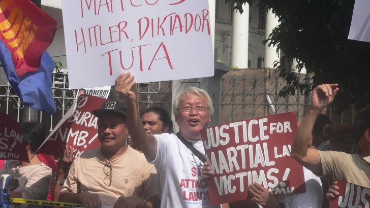 Martial law survivors, activists face off with Marcos loyalists