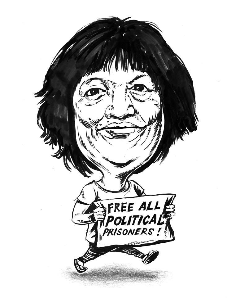Dorris Cuario (Cartoon by Renan Ortiz, posted in pinoy wekly.org)