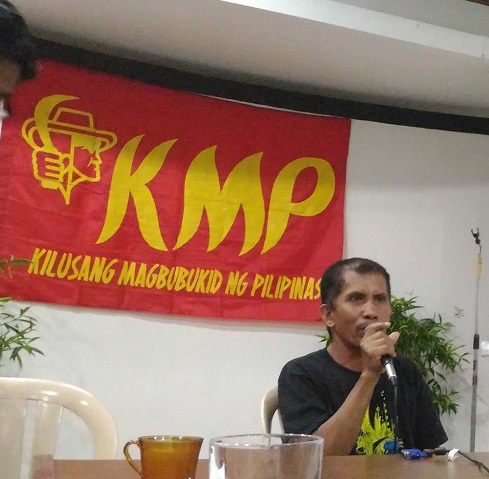Peasants call on police forces to surface arrested leader Antonio Pajalla (Photo courtesy of KMP)