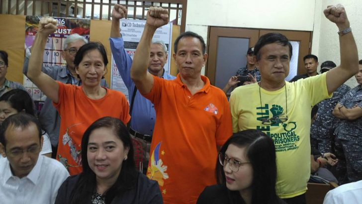 Local courts grant bail for 8 NDFP consultants