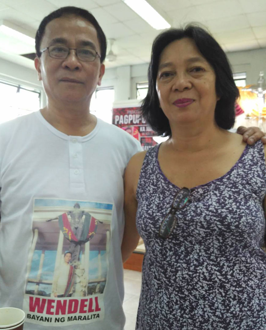 Nestor and Edna are proud of their son Wendell who offered his life for the poor. (Photo by Ronalyn V. Olea / Bulatlat)