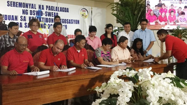 DSWD, employees sign historic CNA recognizing 'MOA workers'