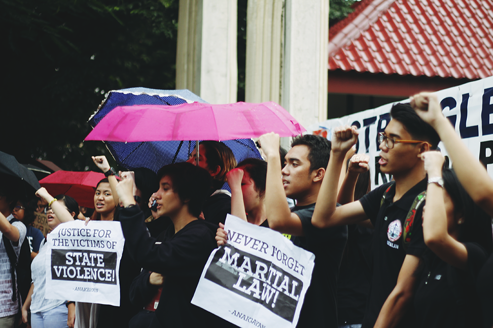 Photo grabbed from Facebook page of  Anakbayan-UP Manila.