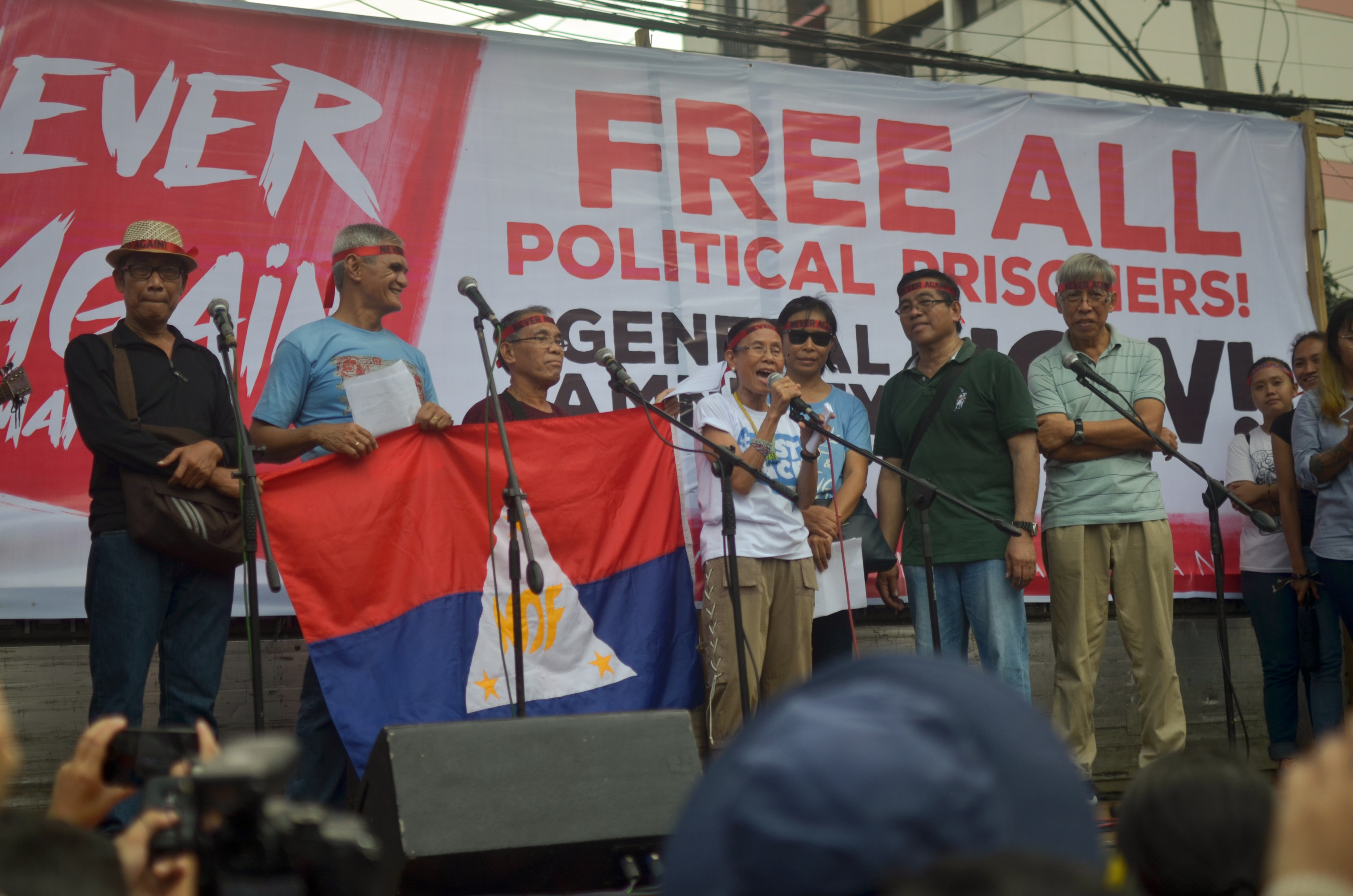 NDFP peace consultants join the commemoration of martial law n Mendiola on Sept. 21 (Photo by Carlo Manalansan/Bulatlat)