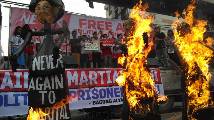 #NeverAgain | Groups dare Duterte to remove 'imprints of martial law'