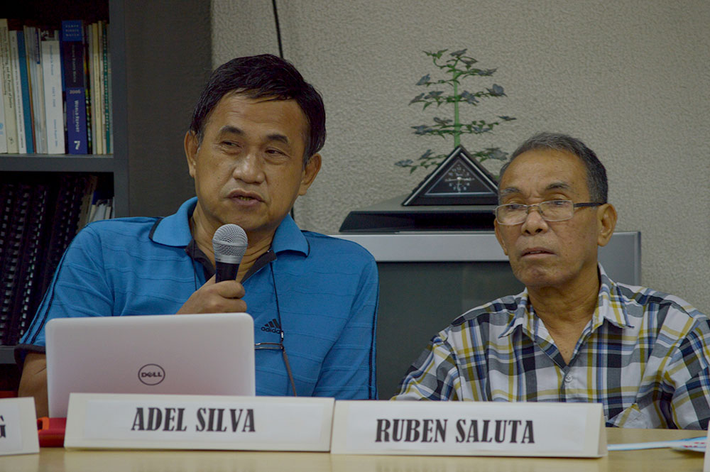 NDFP consultants Adelberto Silva and Ruben Saluta (Photo courtesy of Pher Pasion/Pinoy Weekly)