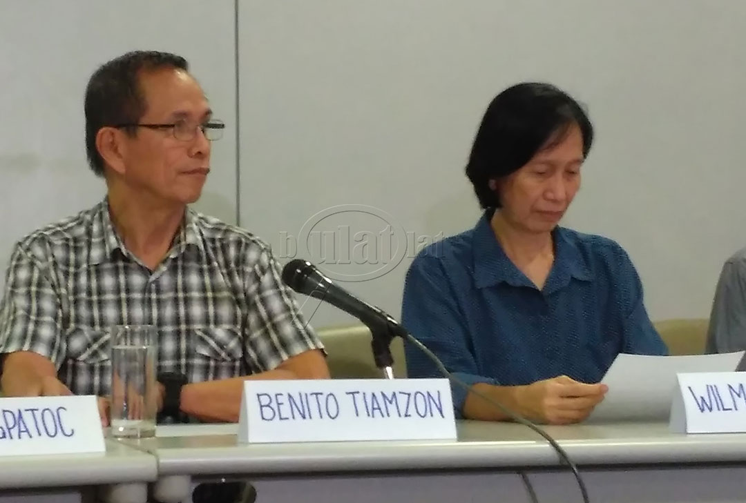 BULATLAT FILE PHOTO: Peace consultants of the National Democratic Front (NDFP) Benito Tiamzon and Wilma Tiamzon are looking forward to the next round of formal talks between the government and the NDFP. (Photo by Ronalyn V. Olea/ Bulatlat)