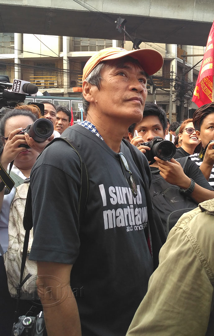 Lito Ocampo, 61, is a photojournalist committed to upholding human rights. (Photo by Ronalyn V. Olea / Bulatlat)