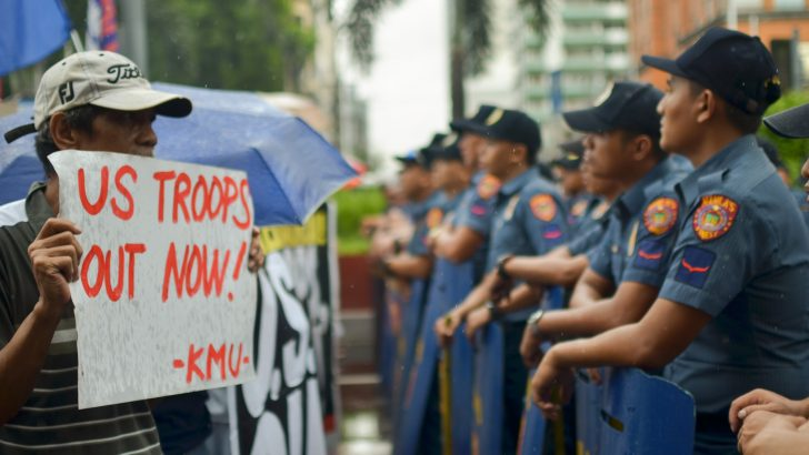 Tightening Philippine military involvement with the US