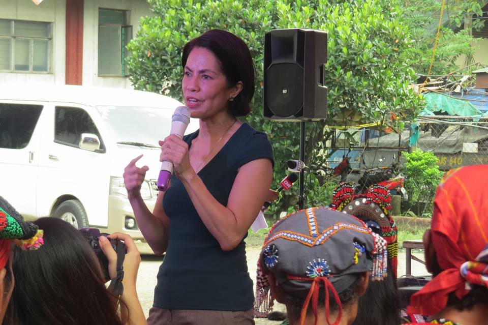 DENR Secretary Gina Lopez in the dialogue at the Kampuhan in UP Diliman on Oct. 24. (Contributed photo)